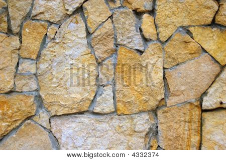 Rough Surface Of Stone Wall