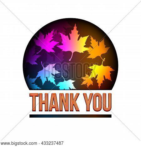 Thank You Autumn Leaves Globe. Thank You