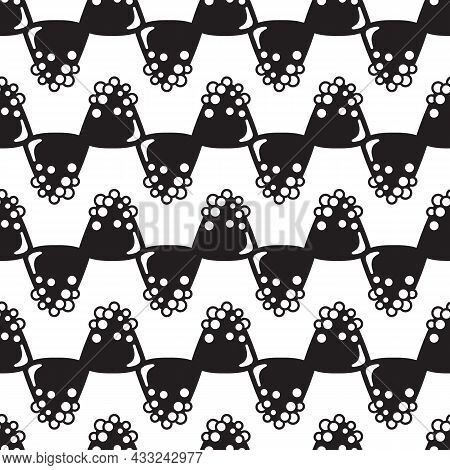 Choco Truffle Pattern Seamless Background Texture Repeat Wallpaper Geometric Vector