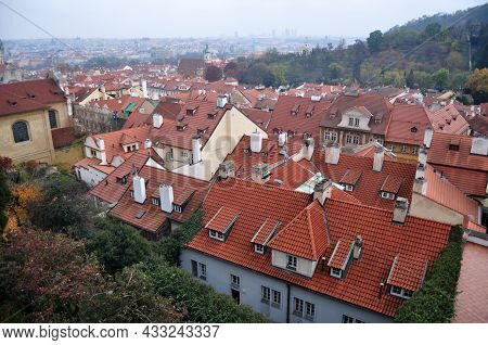 View Landscape Cityscape Of Praha Old Town City And Building Antique Retro Vintage Classic House Hom