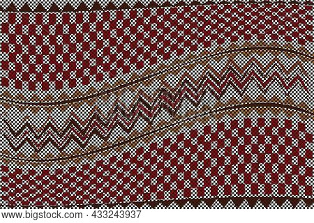 African Traditional Wall Hangings, Ethnic Pattern, Print Fabric Textile, Tribal Handmade Geometric M