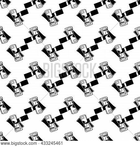 Hand Newspaper Pattern Seamless Background Texture Repeat Wallpaper Geometric Vector