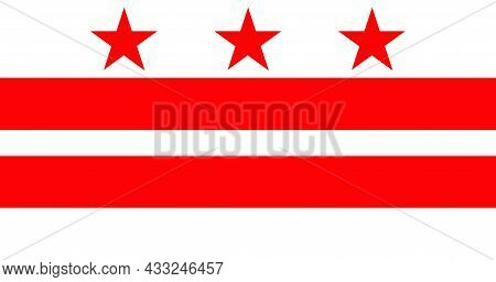 Washington, D.c., Formally The District Of Columbia Flag