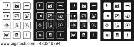 Set Resistor Electricity, Battery Charge Level Indicator, Audio Jack, Ampere Meter, Multimeter, Volt