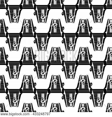 Man Escalator Down Pattern Seamless Background Texture Repeat Wallpaper Geometric Vector