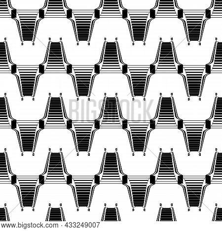 Mall Escalator Pattern Seamless Background Texture Repeat Wallpaper Geometric Vector