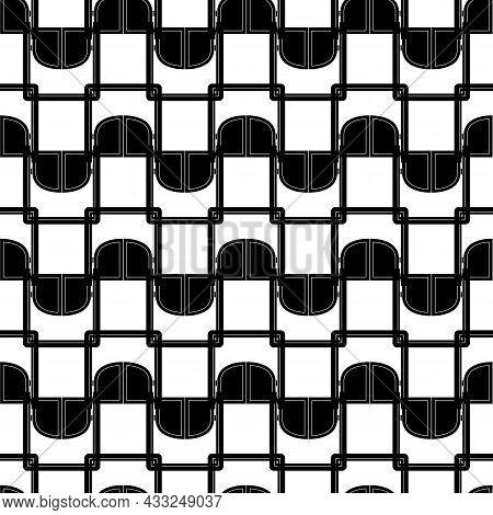 Wood Saloon Door Pattern Seamless Background Texture Repeat Wallpaper Geometric Vector