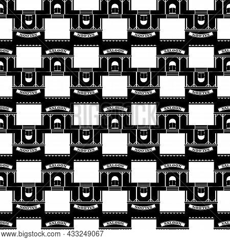 Western Saloon Pattern Seamless Background Texture Repeat Wallpaper Geometric Vector