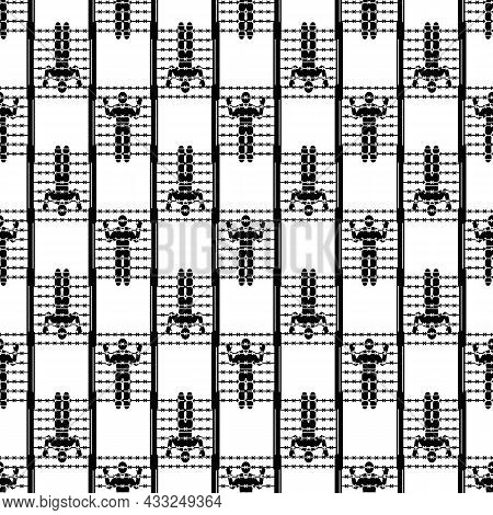 Migrant Man At Border Pattern Seamless Background Texture Repeat Wallpaper Geometric Vector