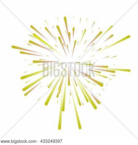 Colorful Fireworks Vector Illustration Isolated On White
