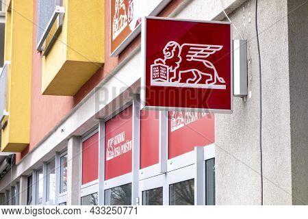 Ostrava, Czech Republic - December 13, 2020: Banner Of Generali Ceska Pojistovna, Czech Traditional