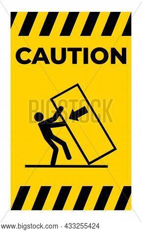 Body Crush Tip Over Hazard Symbol Sign Isolate On White Background,vector Illustration Eps.10