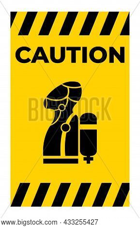 Wear Scba (self Contained Breathing Apparatus) Symbol Isolate On White Background,vector Illustratio