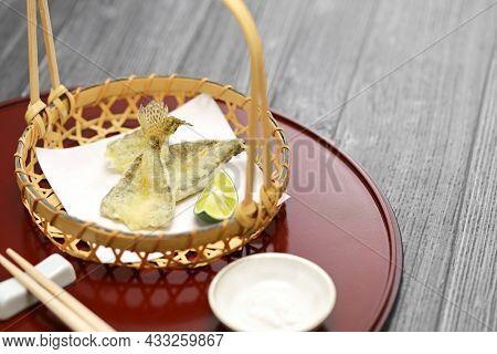 haze ( goby ) tempura, Japanese food