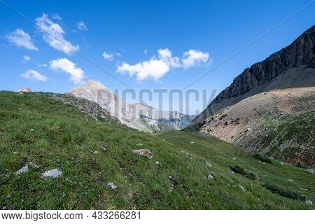 Above The Treeline In The Tundra Along Blue Lakes Trail In The Mt. Sneffels Wilderness Area Of Color