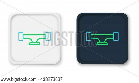 Line Skateboard Wheel Icon Isolated On White Background. Skateboard Suspension. Skate Wheel. Colorfu