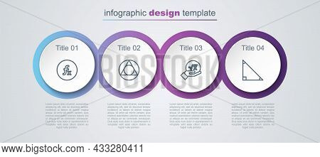 Set Line Function Mathematical Symbol, Triangle, Square Root Of X Glyph And . Business Infographic T