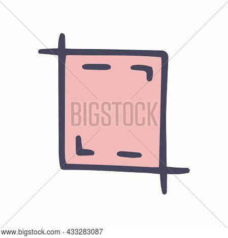 Crop Sign Color Vector Doodle Simple Icon