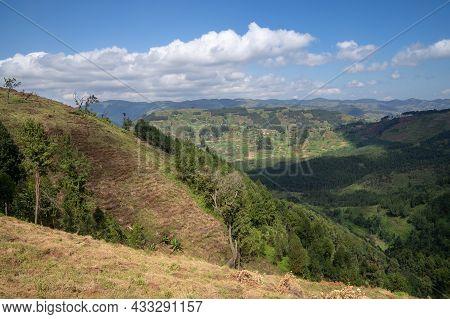 Panoramic Image Of Rural Landscape, Uganda, East Africa