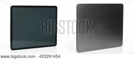 Back And Front View Of Generic Tablet