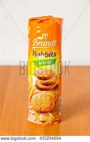 Deblin, Poland - June 8, 2021: Cereal Cookies Brandt Hobbits Kernig.
