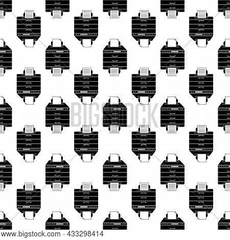 Multifunction Printer Pattern Seamless Background Texture Repeat Wallpaper Geometric Vector