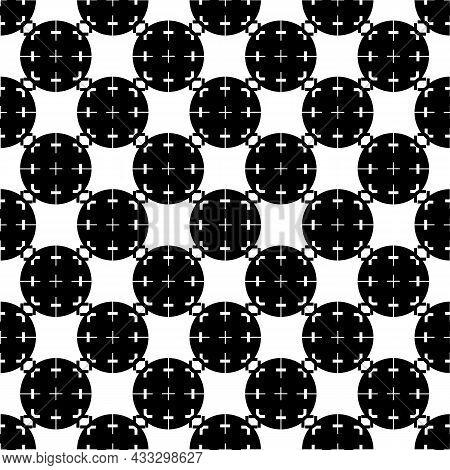 Scope Crosshair Pattern Seamless Background Texture Repeat Wallpaper Geometric Vector