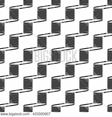 Industrial Metal Spring Pattern Seamless Background Texture Repeat Wallpaper Geometric Vector