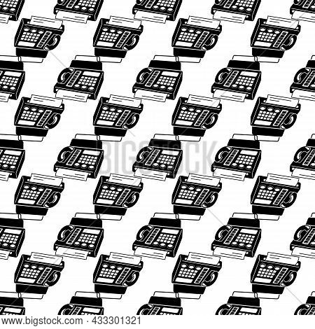 Phone Fax In Perspective Pattern Seamless Background Texture Repeat Wallpaper Geometric Vector