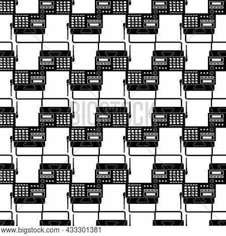 Radio Telephone Fax Pattern Seamless Background Texture Repeat Wallpaper Geometric Vector