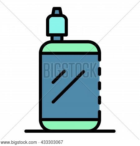 Portable Vape Icon. Outline Portable Vape Vector Icon Color Flat Isolated