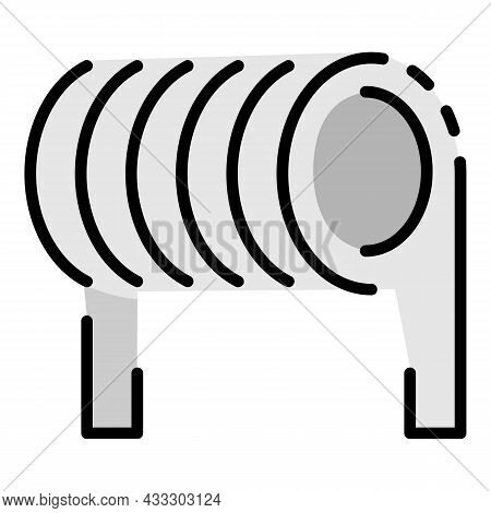 Spiral Coil Icon. Outline Spiral Coil Vector Icon Color Flat Isolated