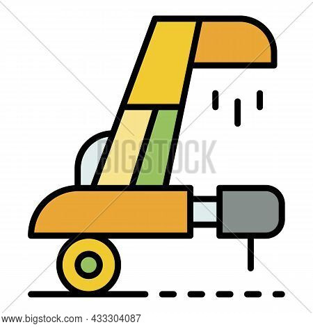 Wheat Collector Equipment Icon. Outline Wheat Collector Equipment Vector Icon Color Flat Isolated