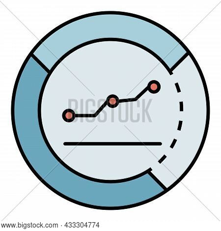 Money Graph Info Icon. Outline Money Graph Info Vector Icon Color Flat Isolated