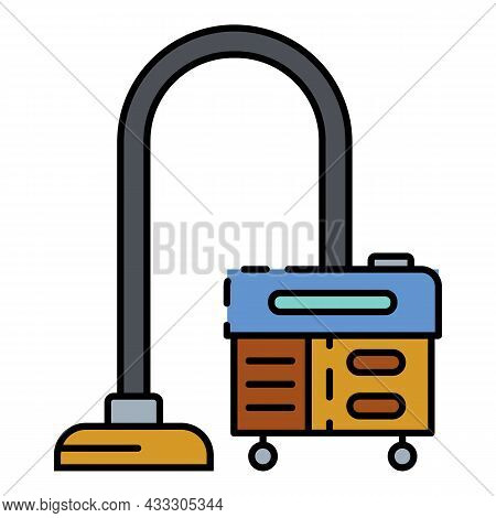 Room Vacuum Cleaner Icon. Outline Room Vacuum Cleaner Vector Icon Color Flat Isolated