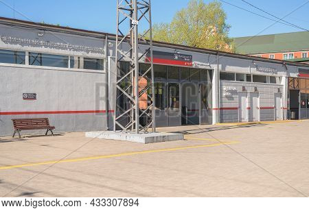 Kaliningrad, Russia - May 11, 2021: Entrance And Facilities Of North Station In Kaliningrad