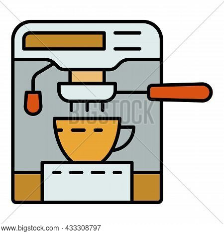 Modern Coffee Maker Icon. Outline Modern Coffee Maker Vector Icon Color Flat Isolated
