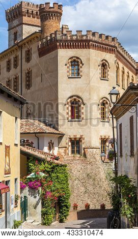 Barolo, Italy - Circa August 2021: Barolo Castle. The Barolo Village Is Unesco Site.