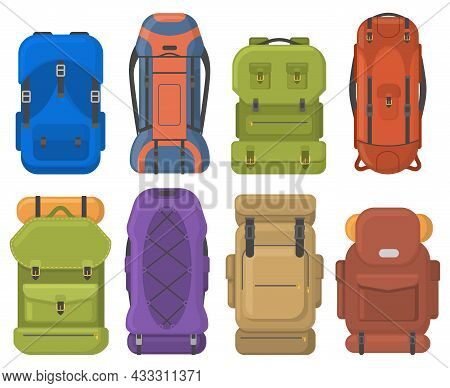 Camping Tourist Hiking Outdoor Adventure Travel Backpacks. Tourist Hiking Trekking Backpacks With Sl