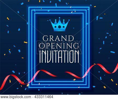 Grand Opening Inauguration Celebration Invitation Template Vector Design Illustration