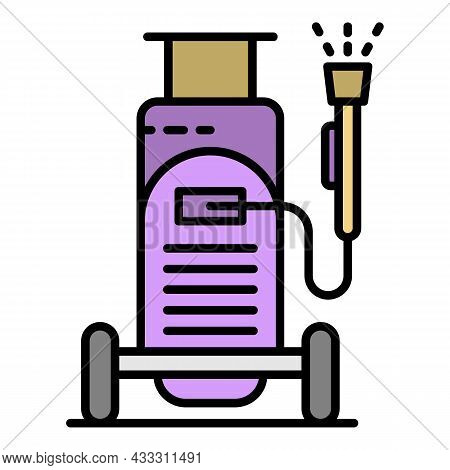 Car Wash Equipment Icon. Outline Car Wash Equipment Vector Icon Color Flat Isolated