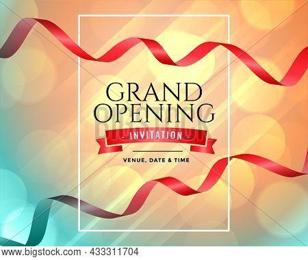 Grand Opening Inauguration Invitation Template Vector Design Illustration
