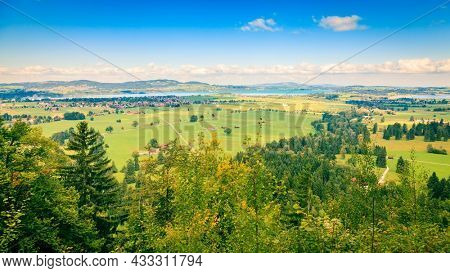 Scenic view of the countryside near Schwangau in Bavaria, Germany