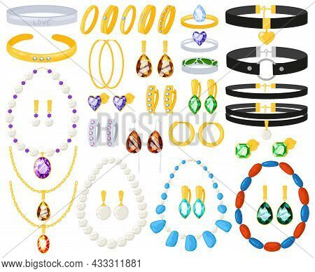 Cartoon Women Jewellery Gold Silver Necklaces, Bracelets, Earrings, Rings. Women Jewelry Golden Silv