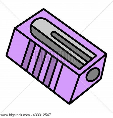Classic Sharpener Icon. Outline Classic Sharpener Vector Icon Color Flat Isolated