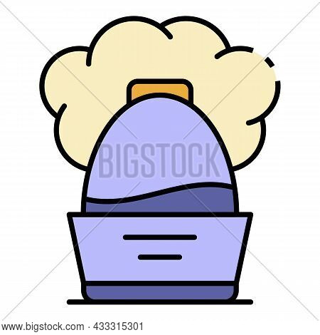 Cool Humidifier Icon. Outline Cool Humidifier Vector Icon Color Flat Isolated
