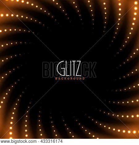 Swirl Sparkles Glowing Luxury Background Vector Design Illustration