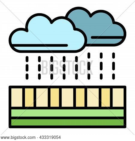 Rain Water Filtration Icon. Outline Rain Water Filtration Vector Icon Color Flat Isolated