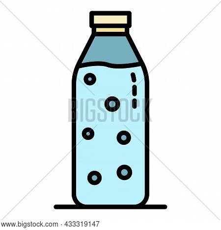Water Filtered Bottle Icon. Outline Water Filtered Bottle Vector Icon Color Flat Isolated