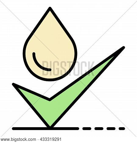 Approved Water Filtration Icon. Outline Approved Water Filtration Vector Icon Color Flat Isolated